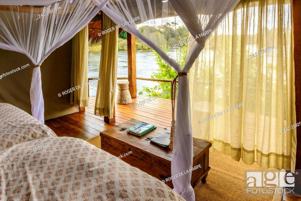 Imagen: Sindabezi Island, part of Tongabezi Lodge. Victoria Falls. Livingstone. Zambia.