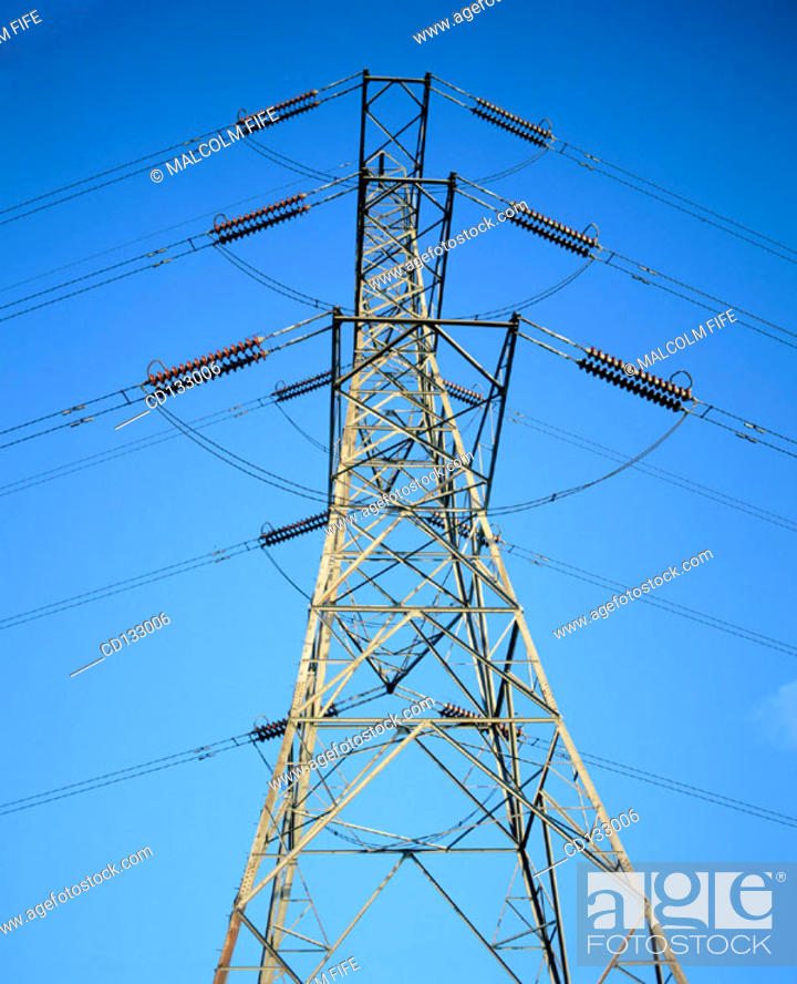 Stock Photo: Electricity Pylon.