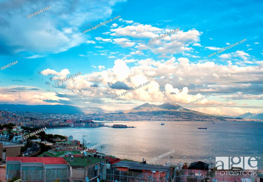 Stock Photo: Best view of the gulf of Naples daylight.
