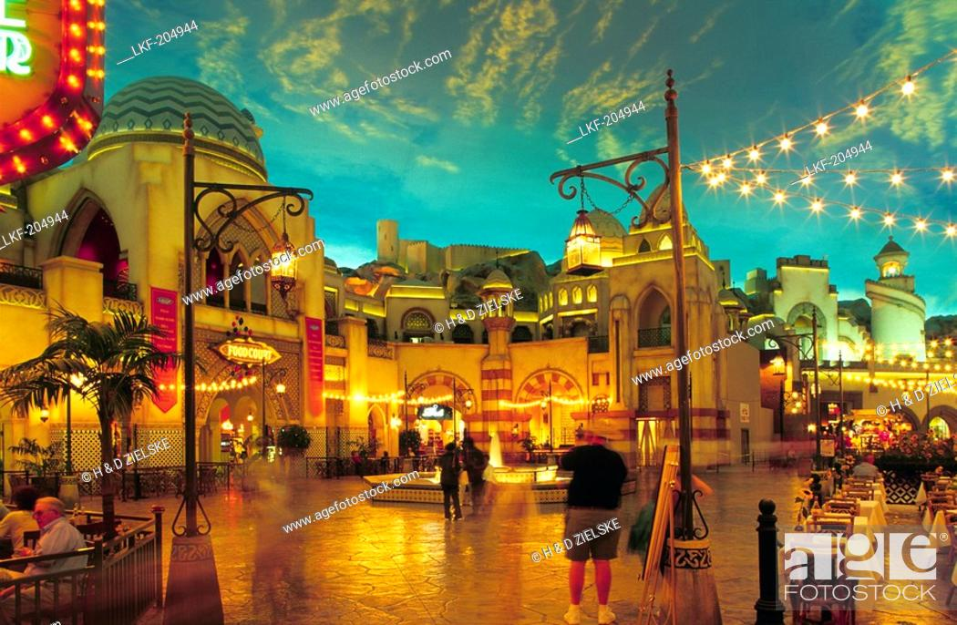 Stock Photo - USA, Nevada, Las Vegas, Las Vegas Boulevard, ''The Strip'', Hotel  Aladdin