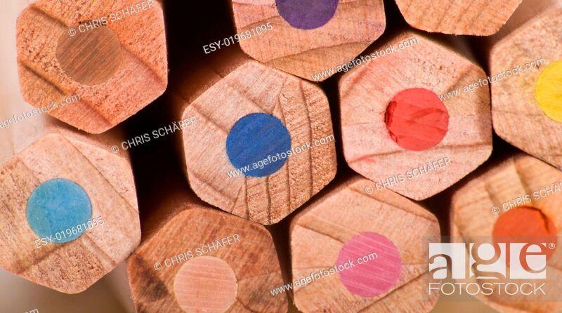 Stock Photo: Buntstifte.
