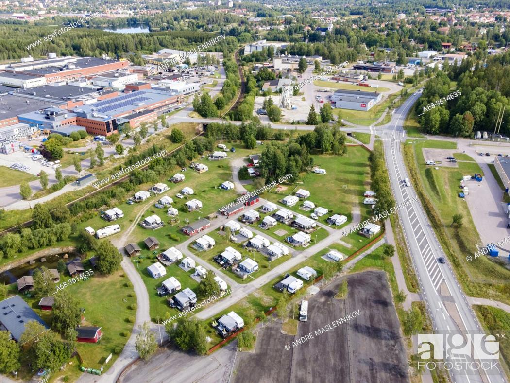 Photo de stock: Eskilns Camping in Fagersta is located in the middle of an industrial area. Sweden. .