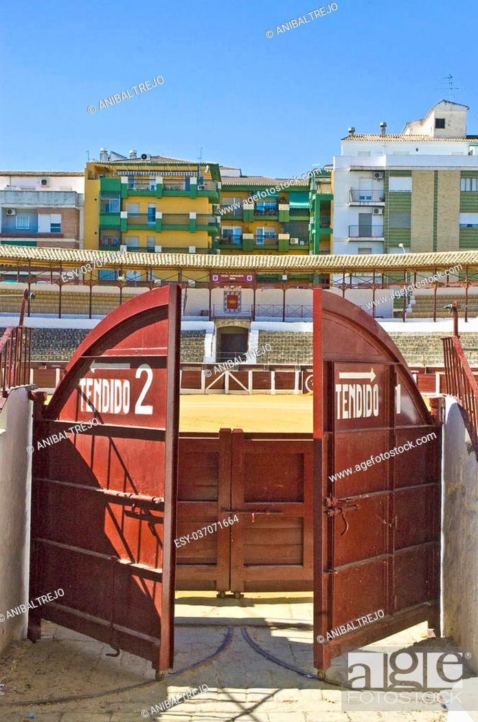 Stock Photo: Bullring located at Ubeda, Andalucia, Spain.