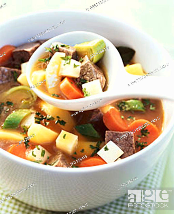 Stock Photo: Potato stew with ox breast.