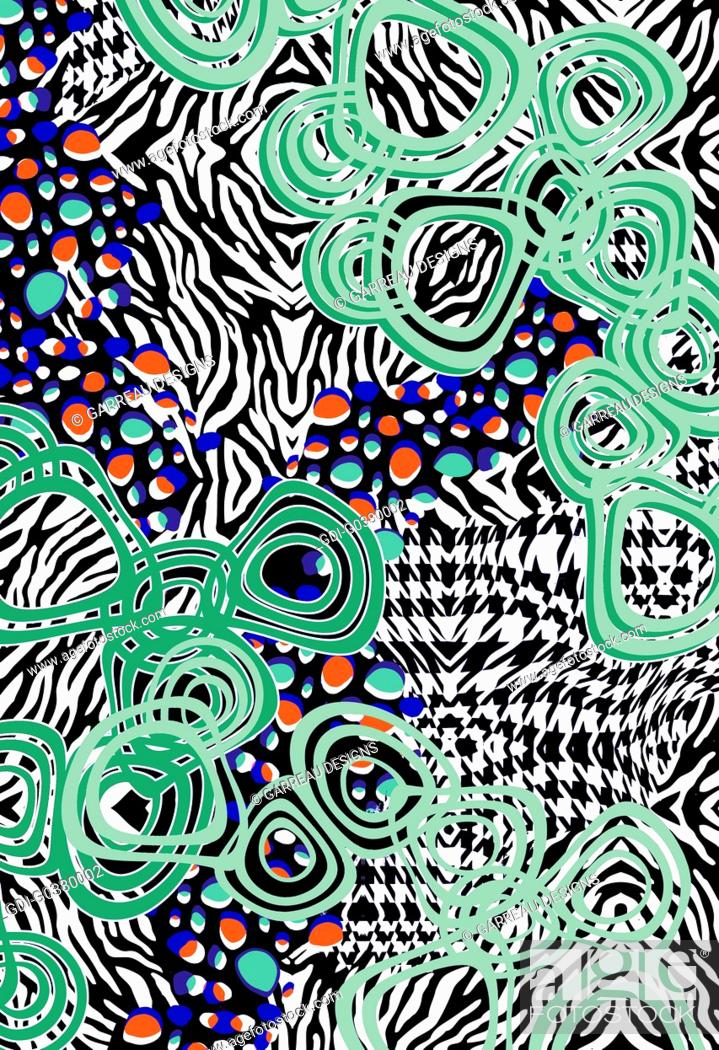Imagen: Design made up of different shapes and patterns.