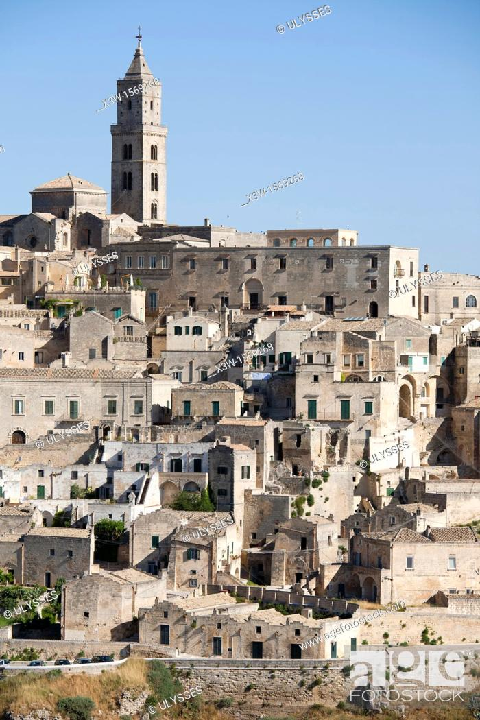 Stock Photo: view of matera, basilicata, italy, europe.
