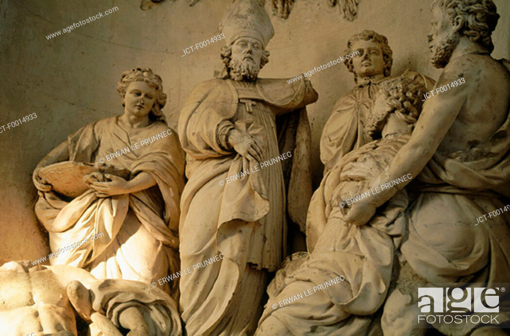 Stock Photo: France, Lorraine, Pont-a-Mousson, abbey of Premontre.