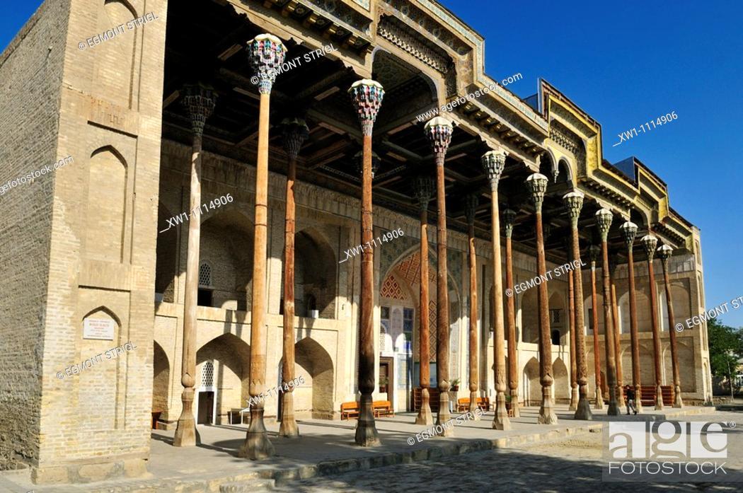 Imagen: Bolo Hauz Mosque, Bukhara, Buchara, Silk Road, Unesco World Heritage Site, Uzbekistan, Central Asia.