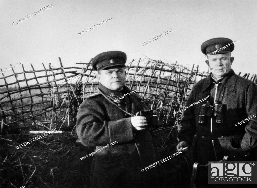 051572f1a Nikita Khrushchev on the Kursk Front in the Soviet Union in 1943 ...