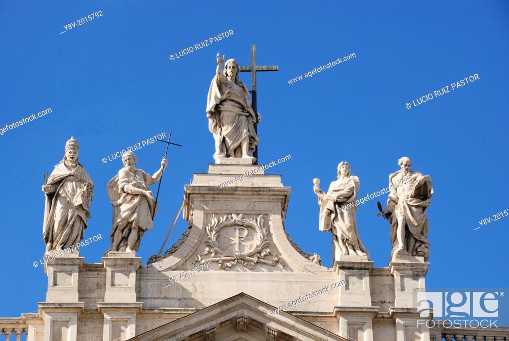Italy  Lacio  Rome  San Giovanni in Laterano, south façade