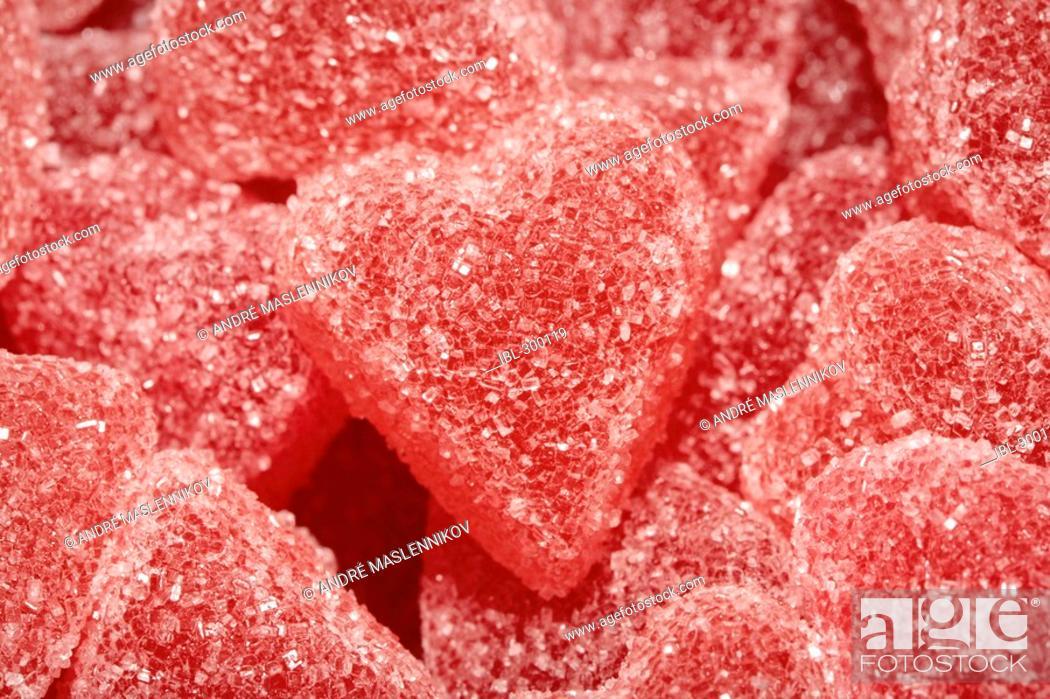 Stock Photo: Jelly hearts.