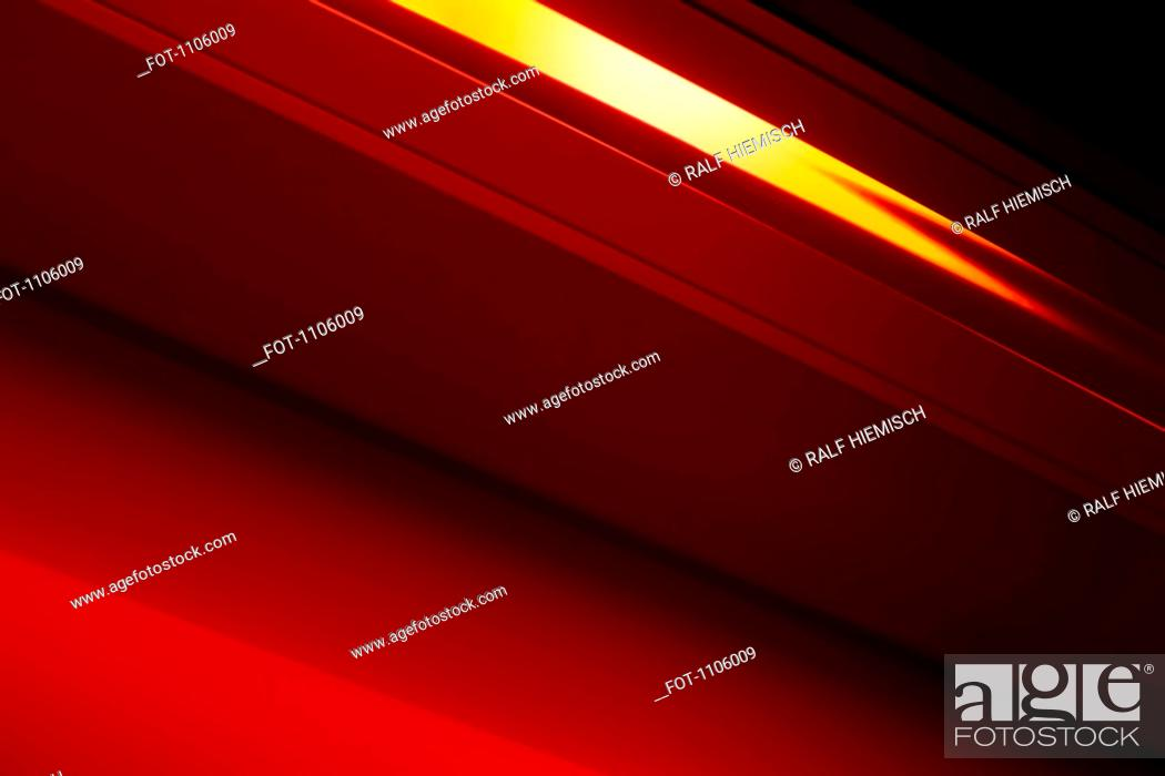 Stock Photo: Close-up abstract of slanted red shape.