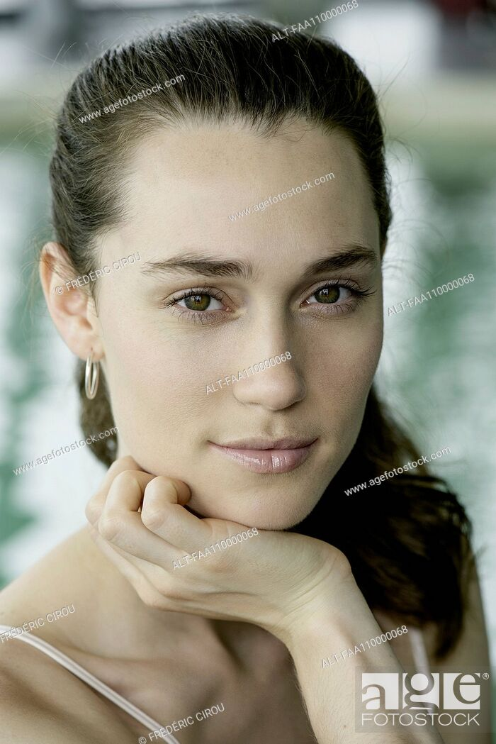 Stock Photo: Young woman, portrait.