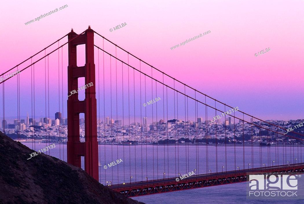 Stock Photo: Golden Gate Bridge San Francisco California United States.