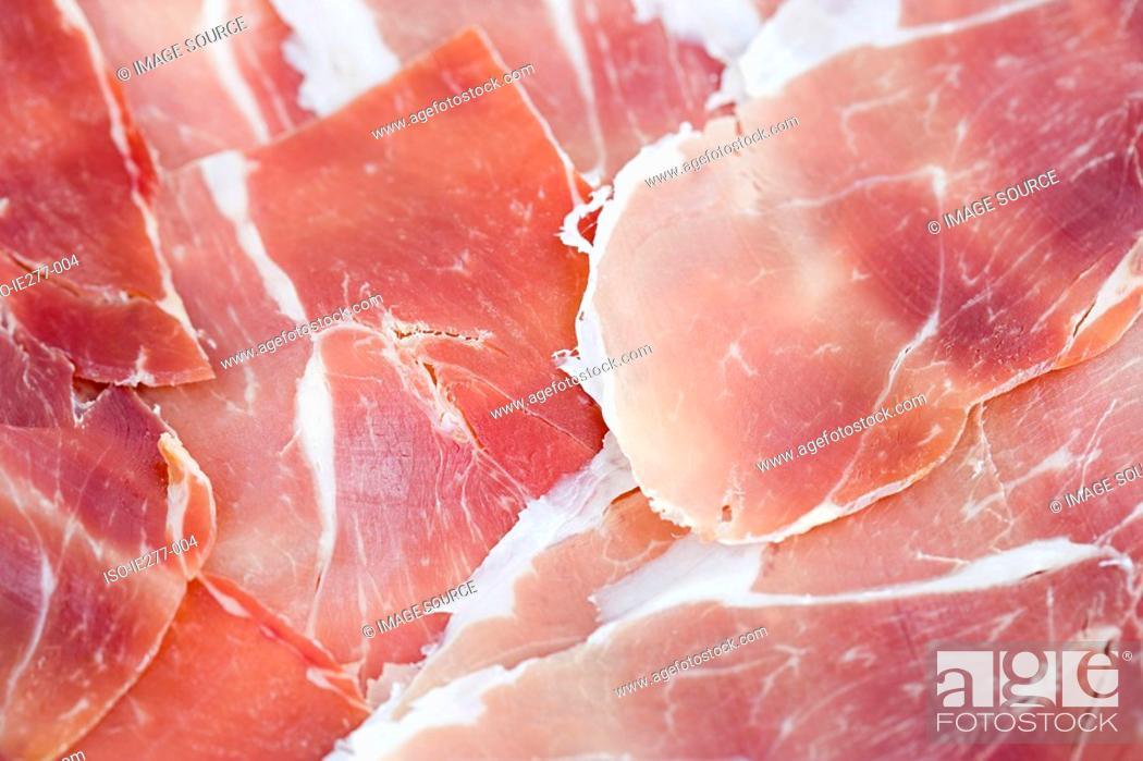 Stock Photo: Parma ham.