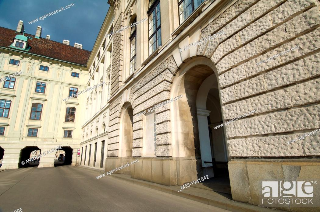 Stock Photo: buildings in hofburg imperial palace. vienna. austria.