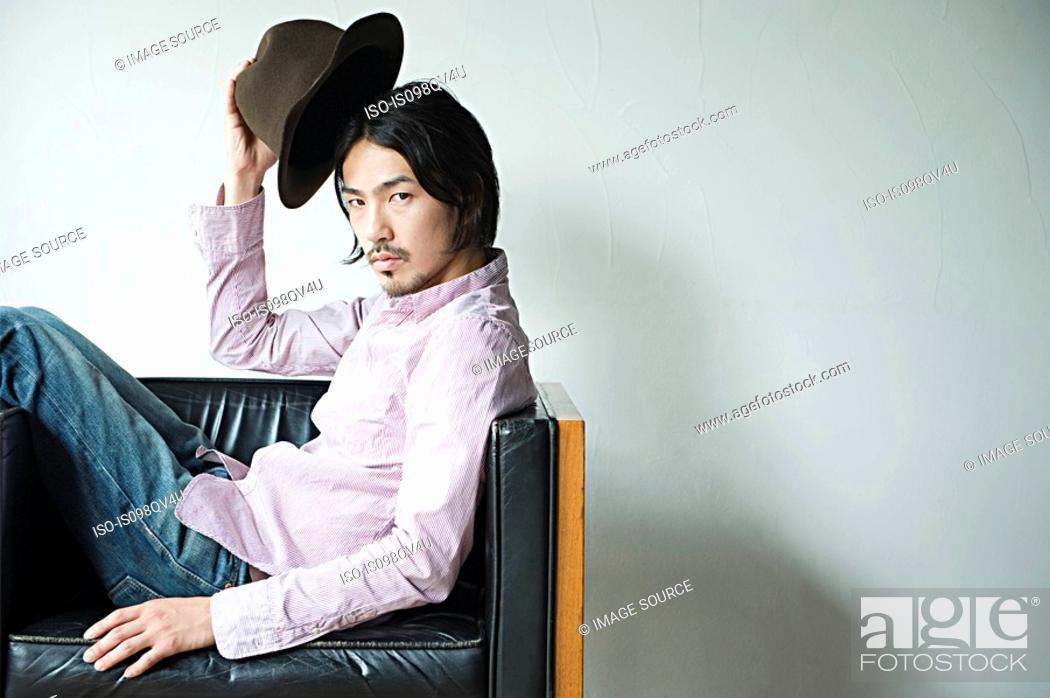 Stock Photo: Stylish young man.