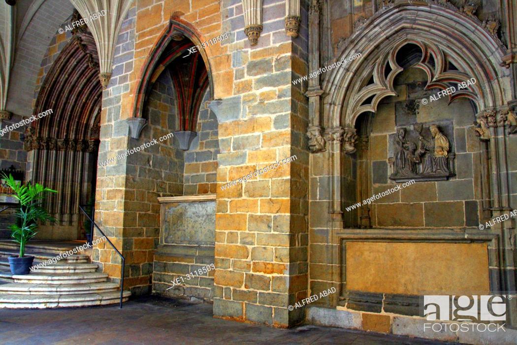Stock Photo: Church of San Saturnino, Pamplona, Navarra, Spain.