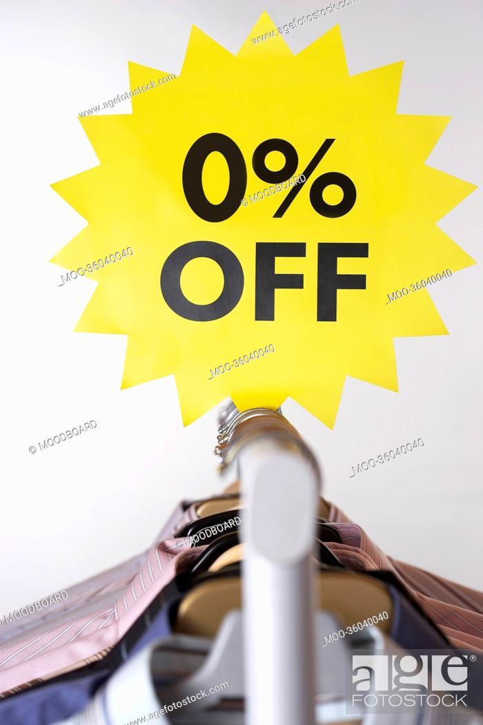 Stock Photo: Clothing on Sale.