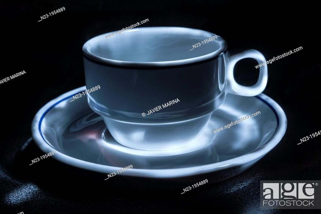 Stock Photo: Cup and saucer.