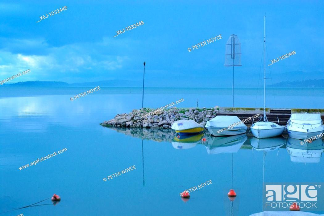 Stock Photo: Torricella on Lake Trasimeno.