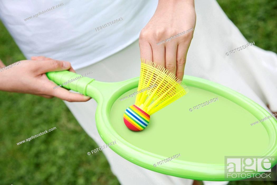 Stock Photo: Badminton.