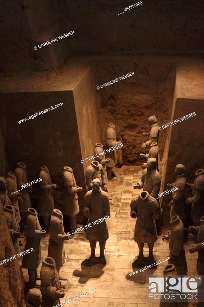 Stock Photo: Terra Cotta Warriors in Pit 3, Xi'an.