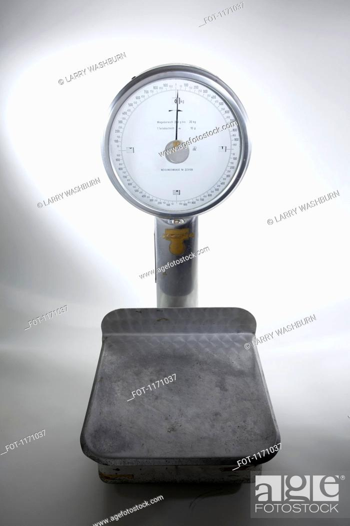 Stock Photo: An old-fashioned, empty kitchen scale.