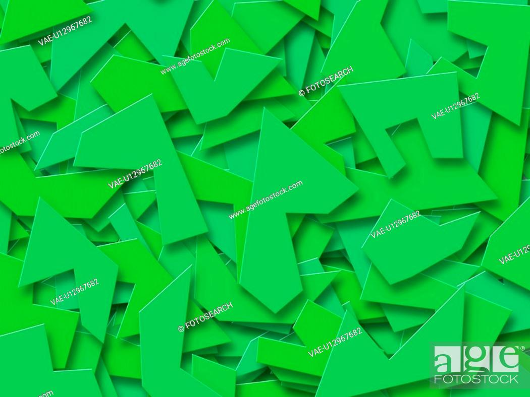 Stock Photo: Green Abstract Shapes.