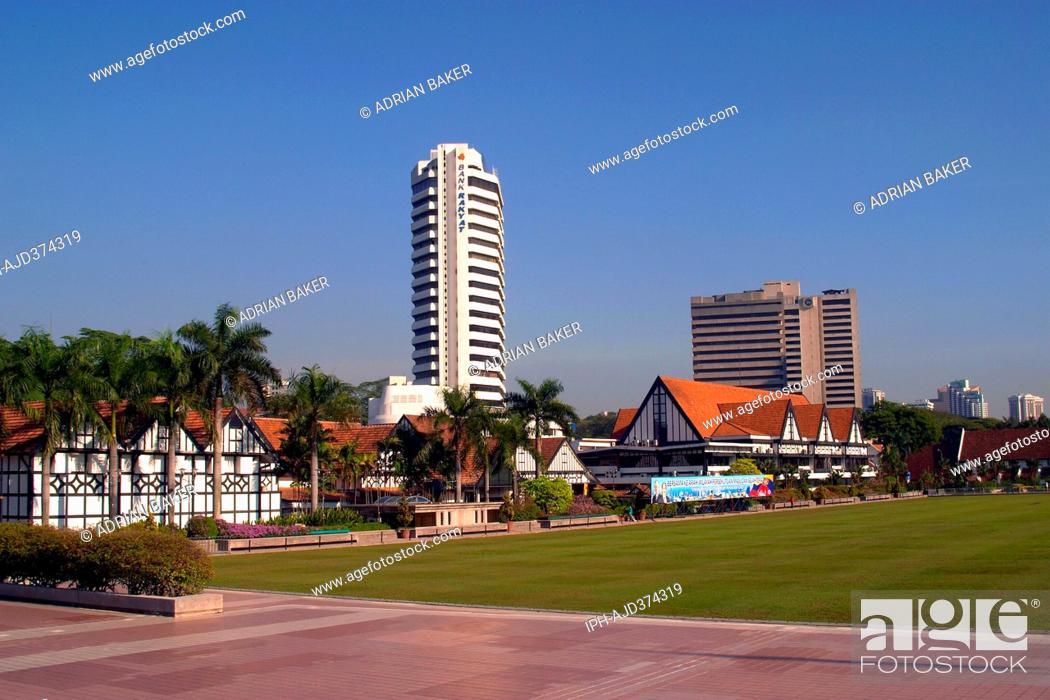 Stock Photo: Malaysia Kuala Lumpur The Royal Selangor Club, Merdeka Square Adrian Baker.