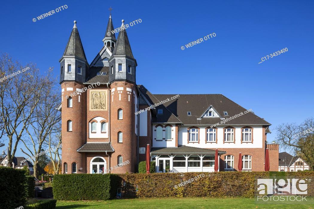 Stock Photo: Moenchengladbach, D-Moenchengladbach, Niers, Lower Rhine, Rhineland, North Rhine-Westphalia, NRW, Palace St George, hotel and restaurant, DEHOGA Academy.