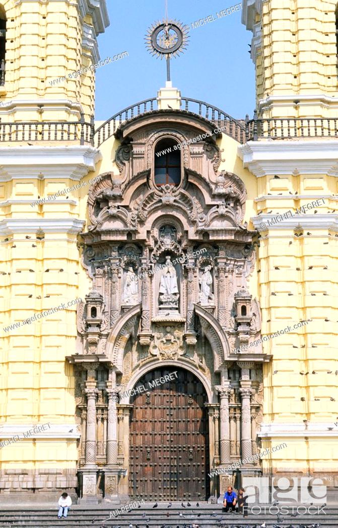 Stock Photo: Peru - Lima - Church of San Fransisco and catacombs.