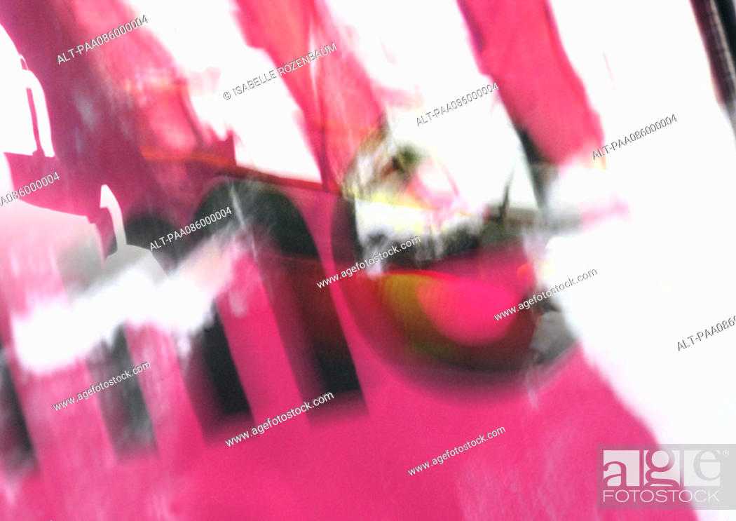 Stock Photo: 'Me' type, blurry, red overlaying abstract imagery, montage.