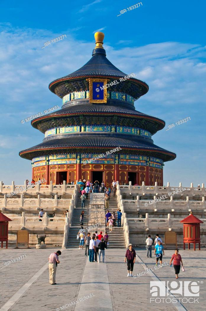 Stock Photo: Hall of Prayer for Good Harvests, Temple of Heaven, Unesco World Heritage Site, Beijing, China, Asia.
