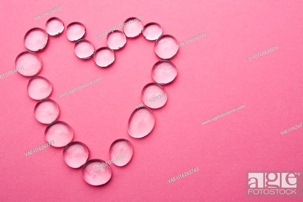 Stock Photo: Close-Up, Colored Background, Gem, Heart Shape.