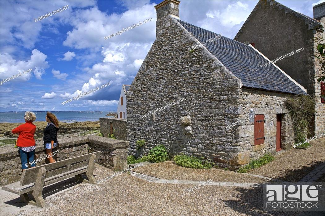 Stock Photo: Customs shelter at Piriac sur Mer, Loire Atlantique, Brittany, France.