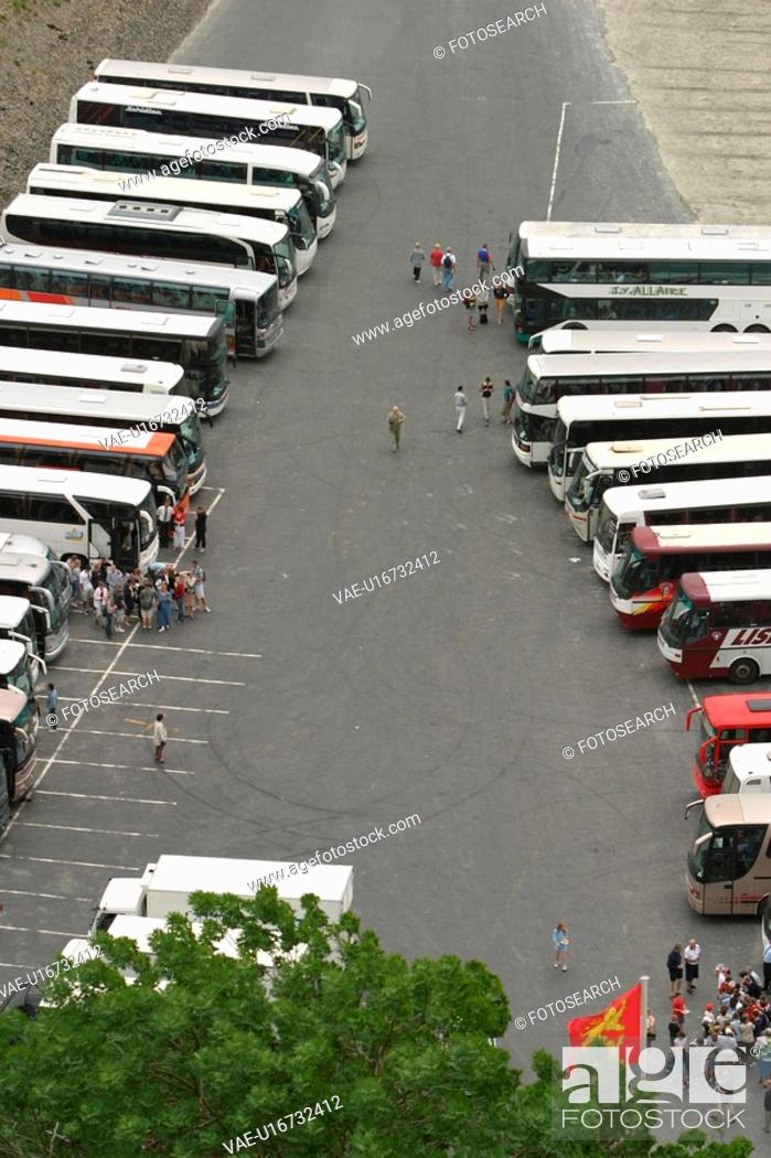 Stock Photo: Array, Conveyance, Bus, Automobile, Arrangement.