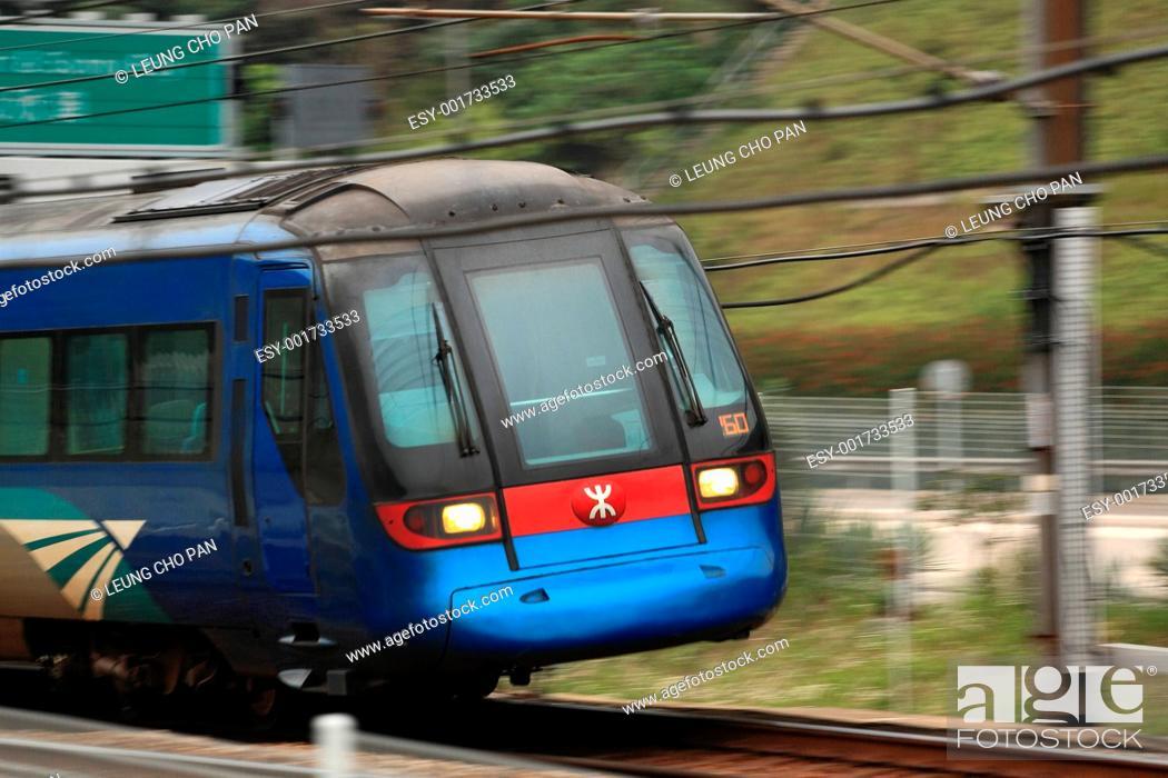 Stock Photo: Hong Kong train.