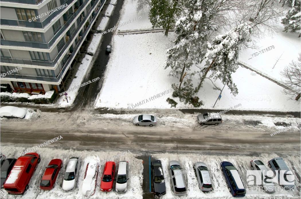 Stock Photo: winter in Geneva, Switzerland.