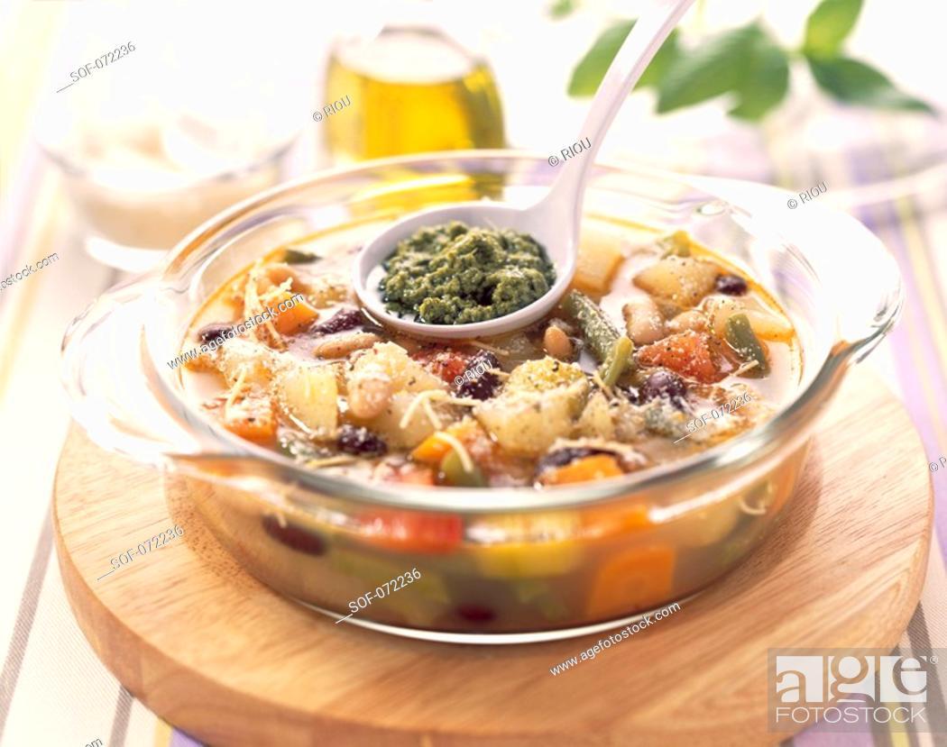 Stock Photo: Pistou soup.