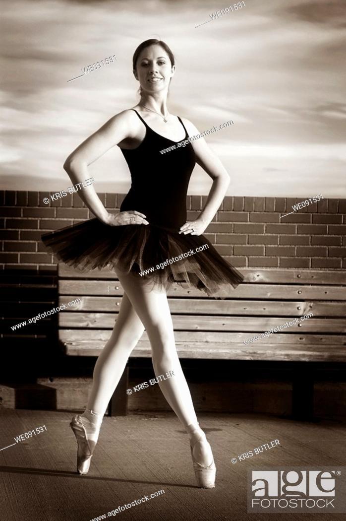 Stock Photo: Proud Ballerina standing En Pointe.
