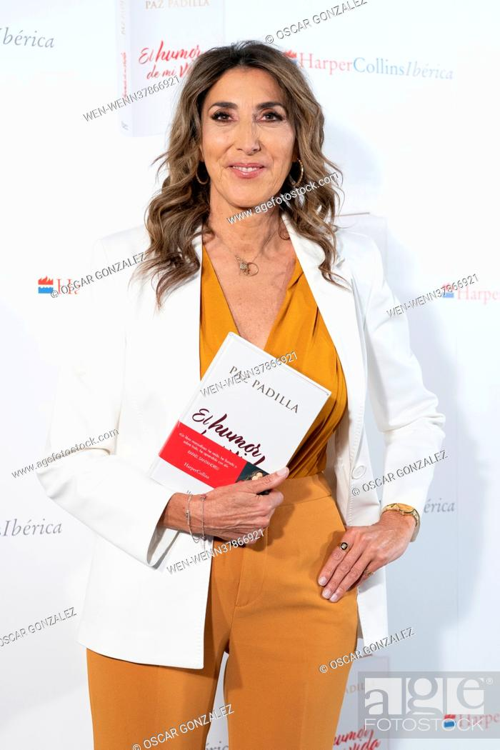 Stock Photo: Paz Padilla presents her new book 'El humor de mi vida', in Madrid, Spain Featuring: Paz Padilla Where: Madrid, Spain When: 07 Apr 2021 Credit: Oscar.