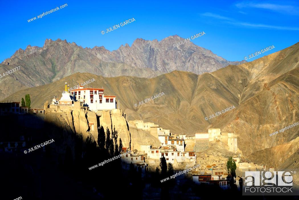 Stock Photo: India, Jammu and Kashmir State, Himalaya, Ladakh, Indus valley, Buddhist monastery of Lamayuru (Yungdrung).
