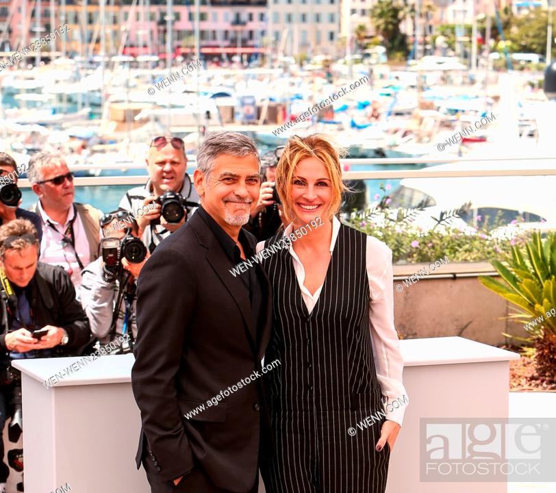 Stock Photo: 69th Cannes Film Festival - 'Money Monster' - Photocall Featuring: George Clooney, Julia Roberts Where: Cannes, France When: 12 May 2016 Credit: WENN.