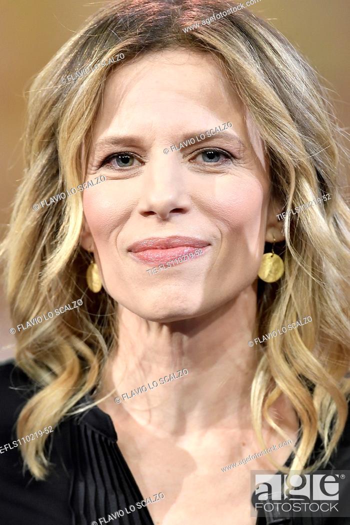 Imagen: Actress Sonia Bergamasco during the tv show Che tempo che fa, Milan, ITALY-10-02-2019.