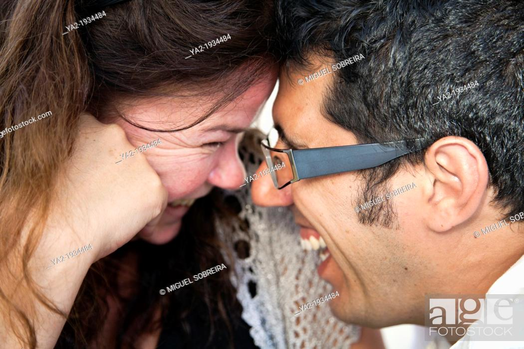 Stock Photo: Couple Laughing.