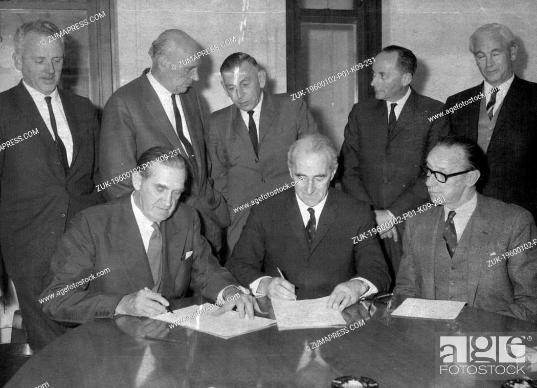 Stock Photo: Dec. 16, 1962 - The new Zealand and Australian trade ministers, Mr J.r. Marshall, deputy prime minister of new Zealand, and Mr J.