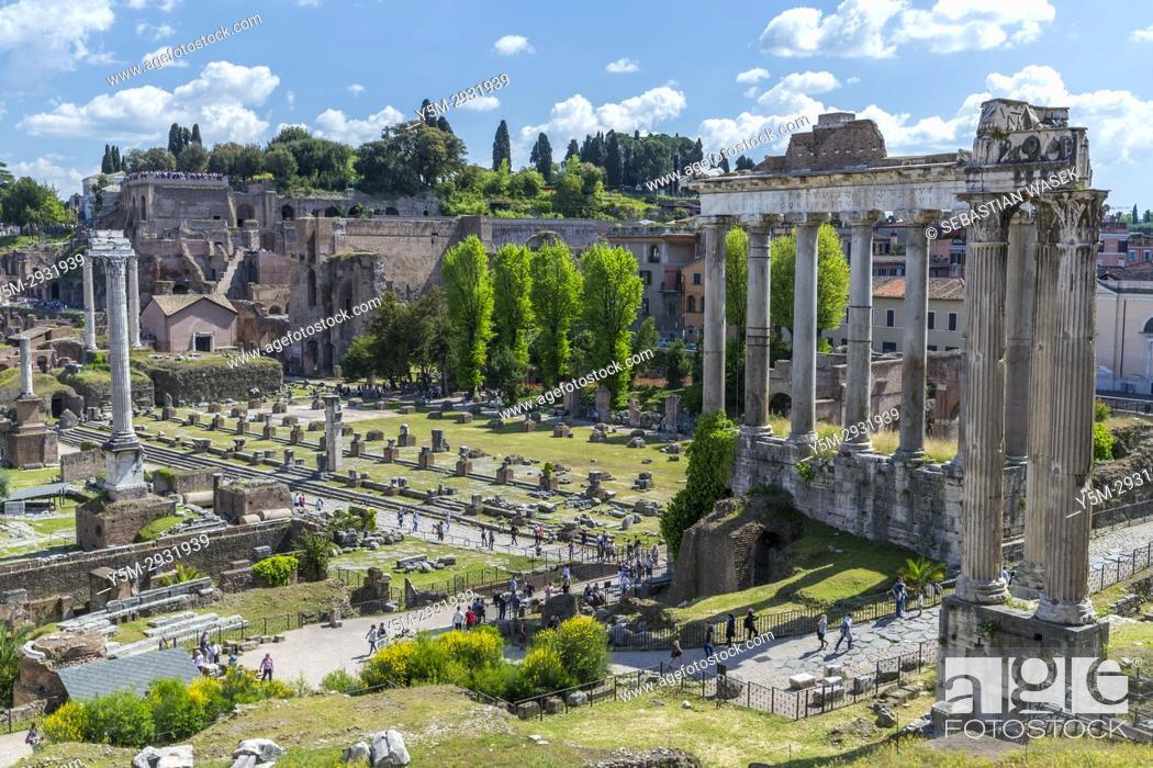 Stock Photo: Roman Forum, Rome, Lazio, Italy, Europe.
