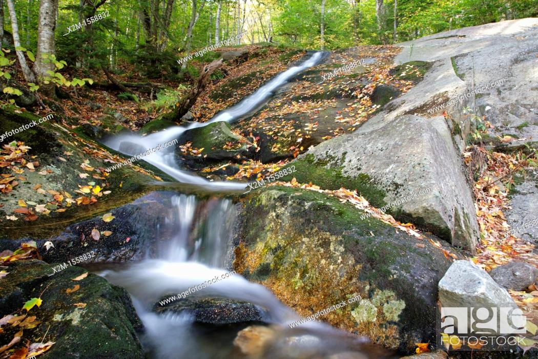 Stock Photo: Kinsman Notch - Tributary of Lost River in Woodstock, New Hampshire USA during the autumn months.