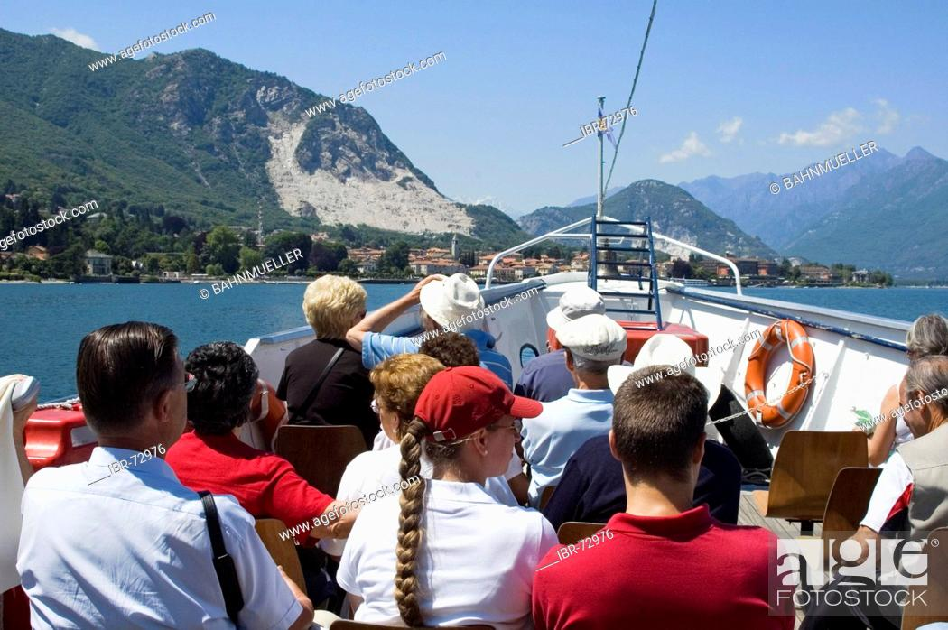 Stock Photo: At the Lake Lago Maggiore Piedmont Piemonte Italy.